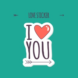 I Love You - Heart Stickers