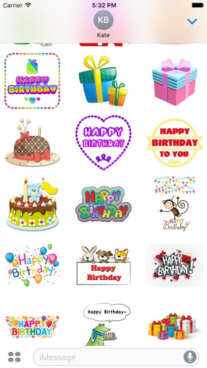 Birthday Stickers Pack for iMessage