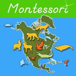 Animals of North America - Montessori Geography