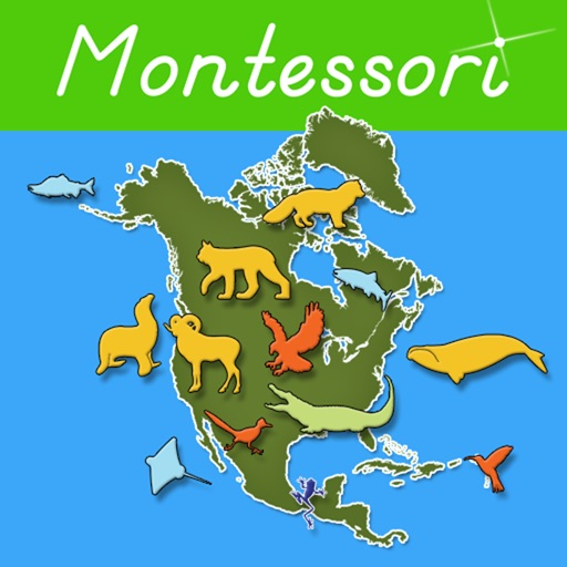 Animals of North America - Montessori Geography