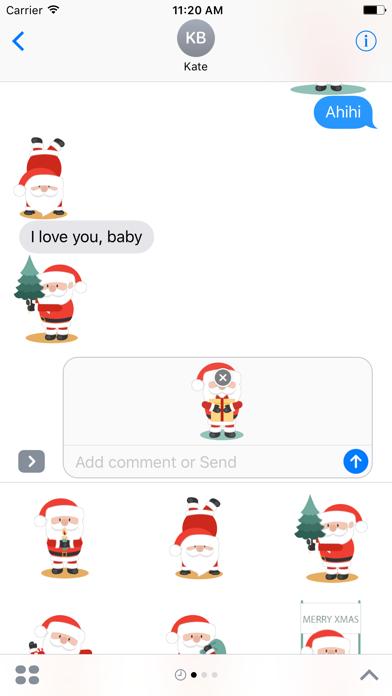 Happy Santa Claus for Christmas - Fx Sticker screenshot three