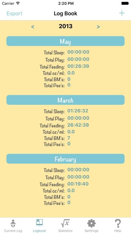 Baby Log - Feed Timer Breastfeeding Tracker Breast screenshot-3