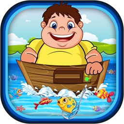 A Flabby Fat Man Fisherman Frenzy PRO- Prize Fly Fishing Sea Fish Star Arcade