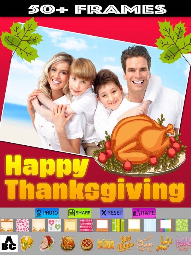 Happy Thanksgiving Picture Frames On The App Store