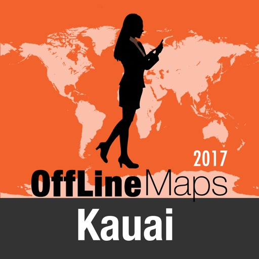 Kauai Offline Map and Travel Trip Guide