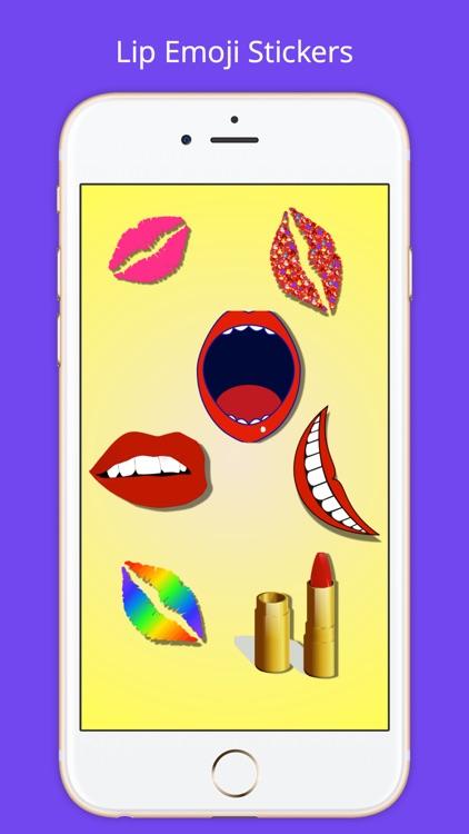 Lip Emoji Stickers