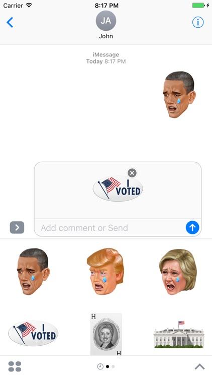 KIMOJI Stickers - Presidential Pack