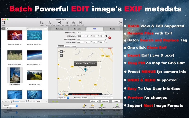 Image Exif Editor Screenshots