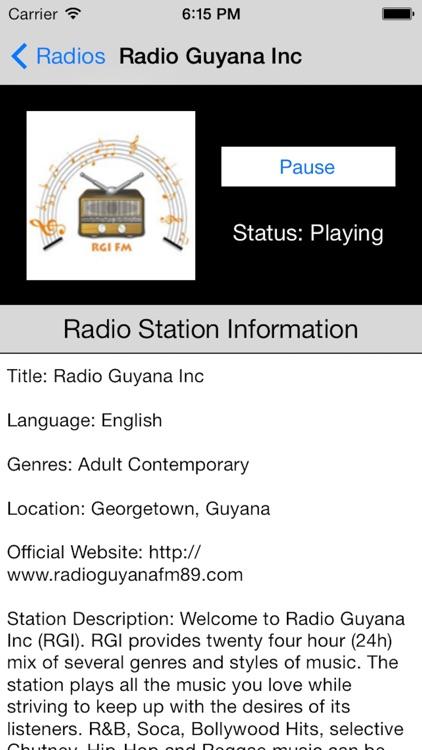 Guyana Radio Live Player (Georgetown / English)