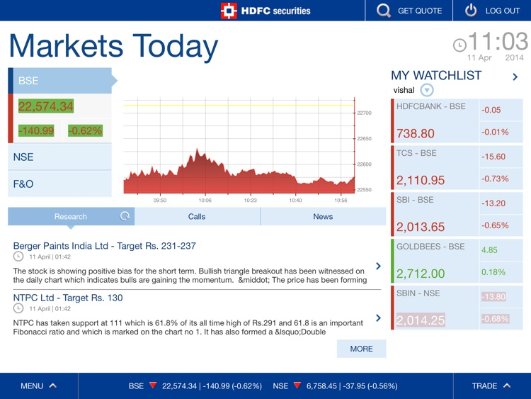 HDFC securities screenshot-1