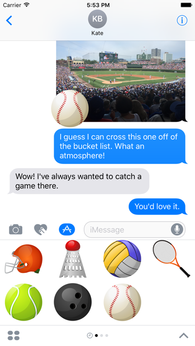 Sports Stickers for iMessage screenshot four