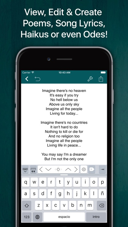 Verse - Write Poems, Song Lyrics and Compositions
