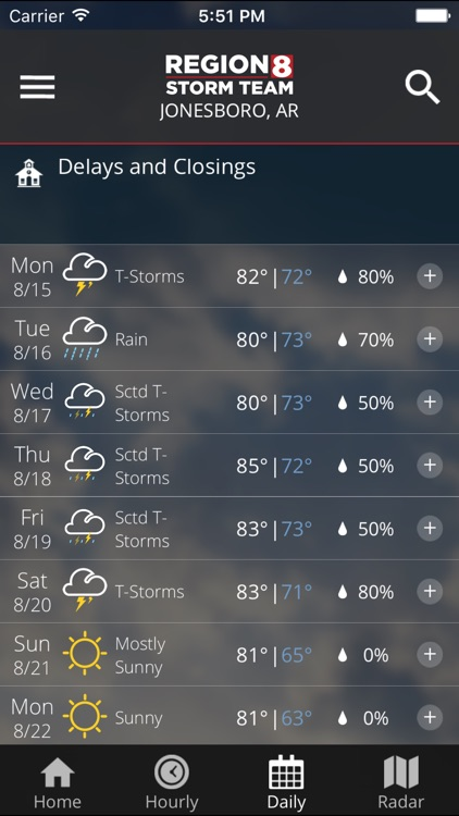 KAIT Region 8 Weather screenshot-3