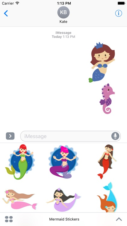 Mermaid Stickers For iMessage