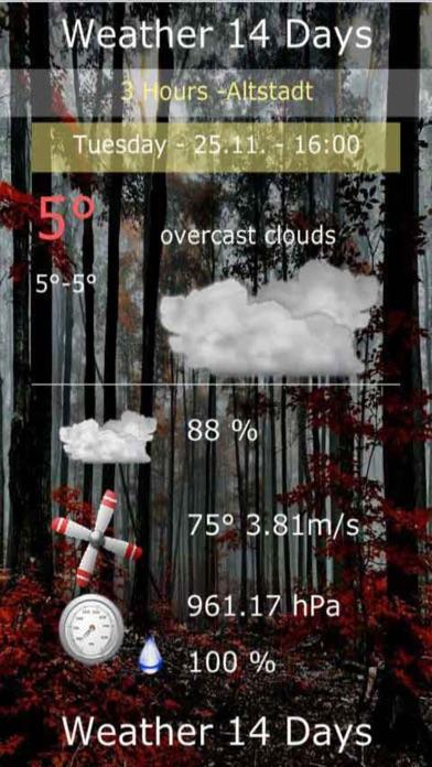 天氣數字14天屏幕截圖5