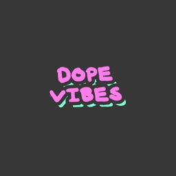 Dope Vibes - Totally Dank Flashing Cloud Stickers