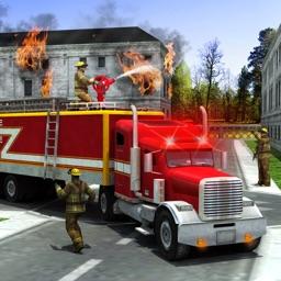 Rescue Fire Truck Simulator Game: 911 Firefighter