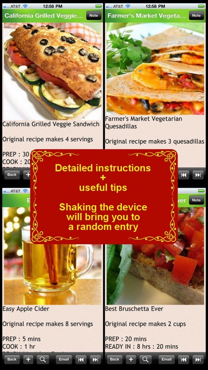 280 Vegetarian Recipes screenshot-2