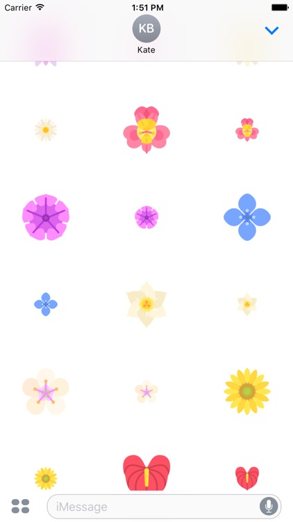 Flower Stickers - Flowers that Stick