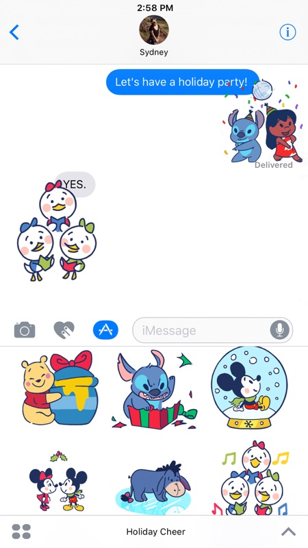 Disney Stickers Holiday Cheer line Game Hack and Cheat