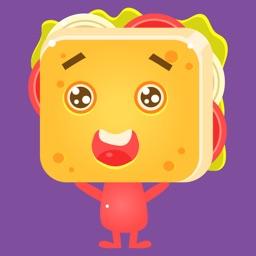 Cute Sandwich Stickers