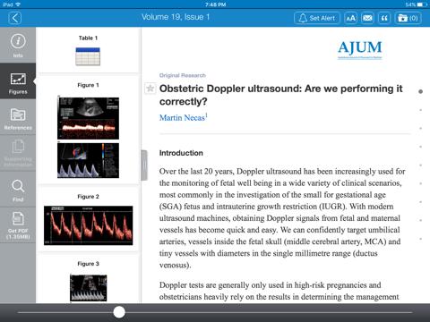 Screenshot of Australasian Journal of Ultrasound Medicine