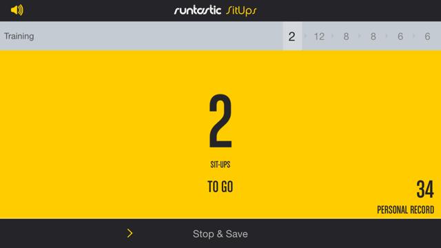 Runtastic Sit-Ups Trainer PRO Screenshot