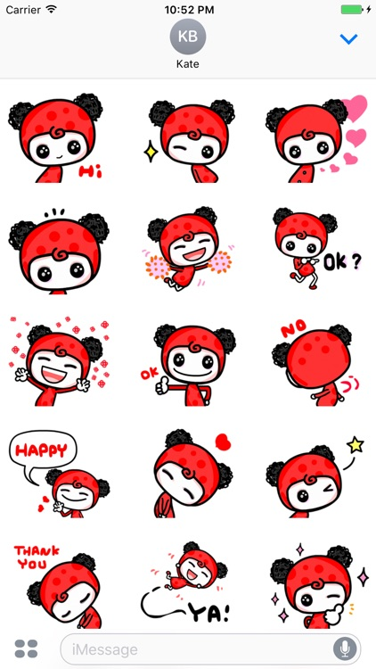Chili Girl - Cute stickers for iMessage