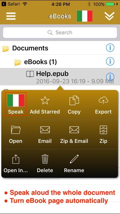 SpeakItalian 2 FREE (6 Italian Text-to-Speech) screenshot-3
