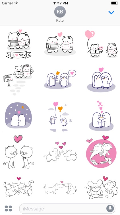Cute Couple Stickers screenshot-3