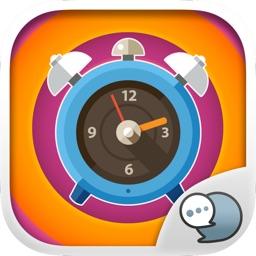 Clock Emoji icon Sticker Keyboard Themes ChatStick