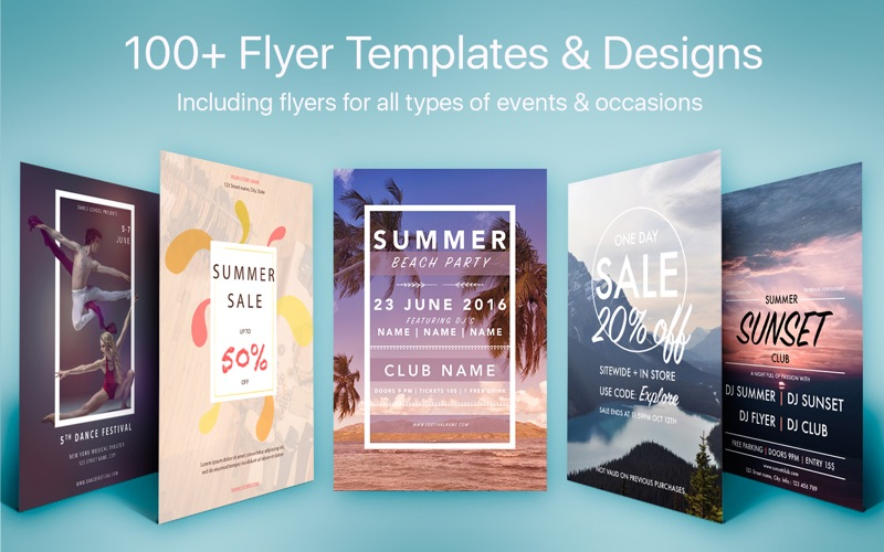 Flyer Templates & Designs - Flyers for Pages | App Price Drops