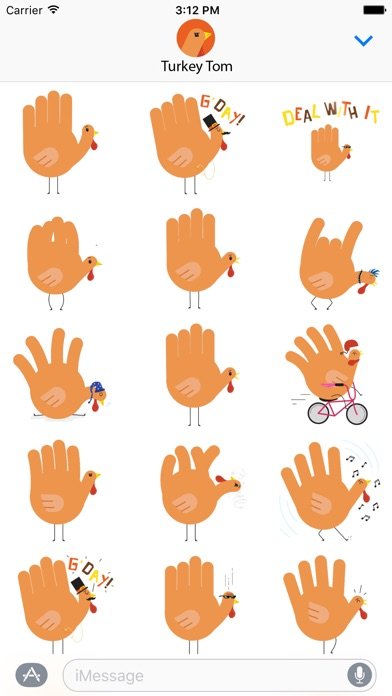 download Hand Turkey Stickers apps 3