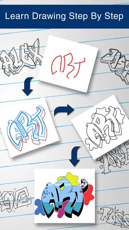 How to Draw Graffiti Art screenshot-3