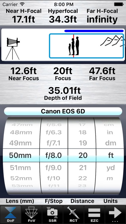SetMyCamera - Depth of Field Calculator