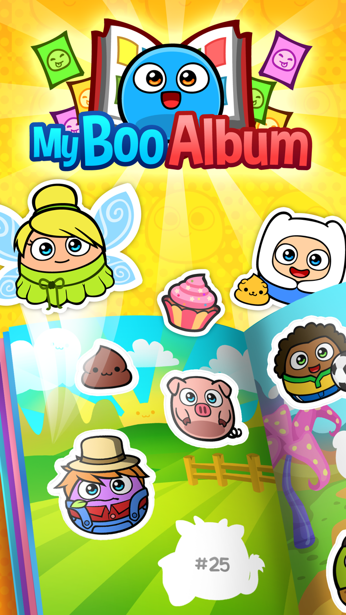 My Boo Album - Virtual Pet Sticker Book for Kids Screenshot