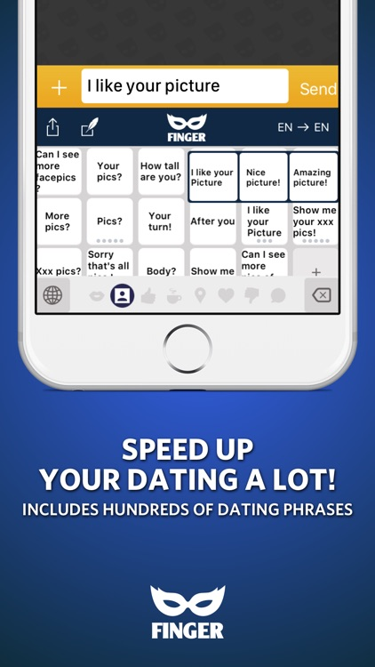 FINGER Gay Keyboard for any dating app!