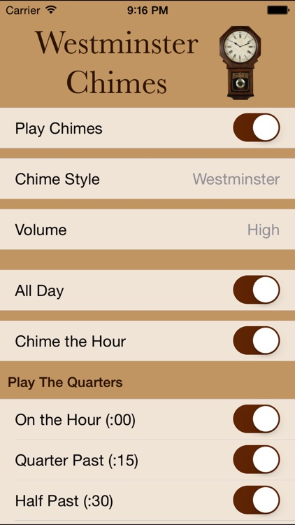 Westminster Chimes Standard screenshot-0