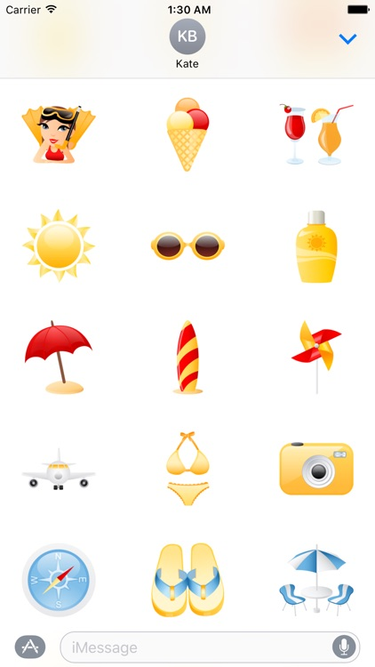 Beach and Vacation Stickers Pack for iMessage