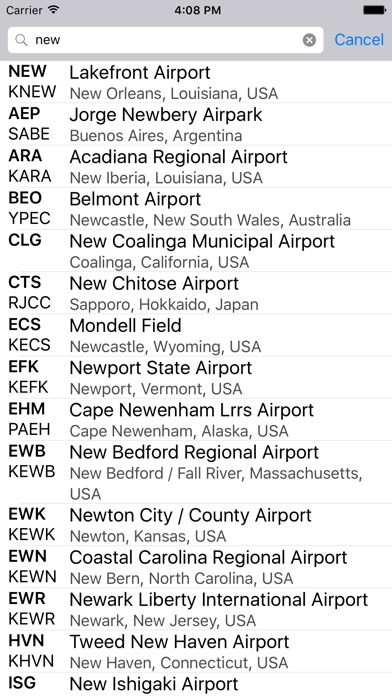 Airport Codes review screenshots
