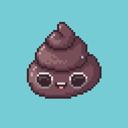 Cute Pixel Poop