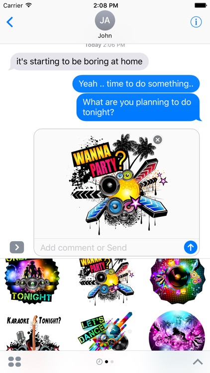 Let's Party Stickers for iMessages