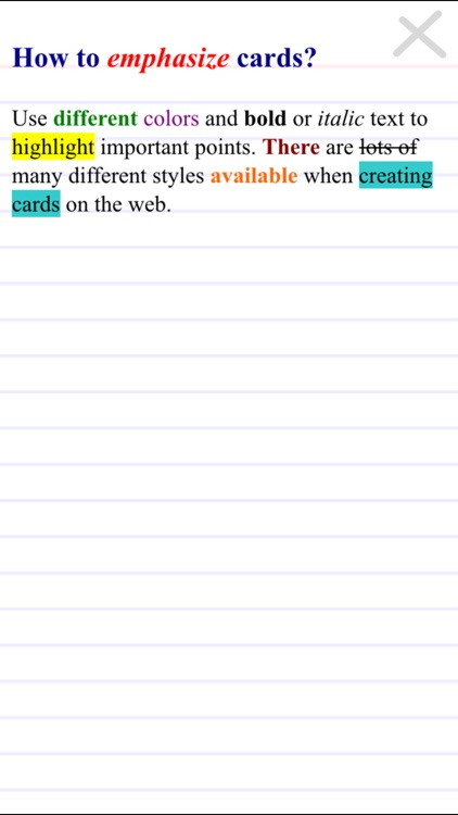 FreezingBlue Flashcards screenshot-2