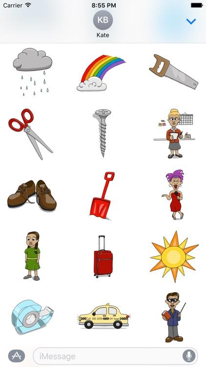 Stickertoons Life – Useful stickers for iMessage screenshot-4