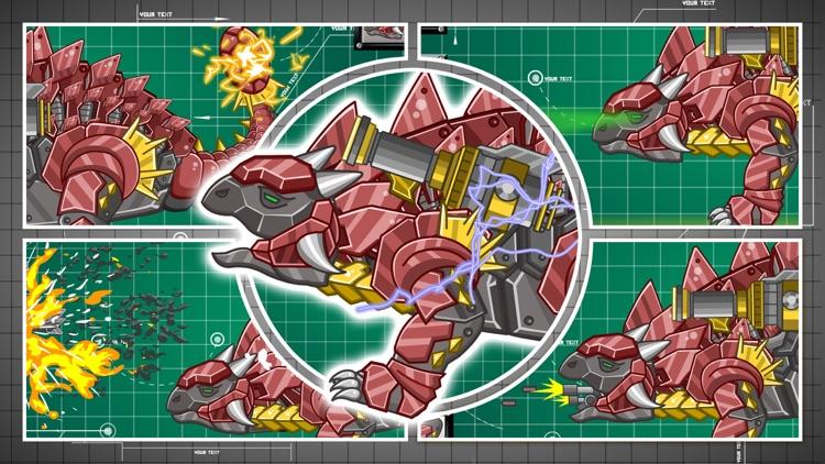 Steel Dino Toy:Mechanic Ankylosaurus-2 player game screenshot-4
