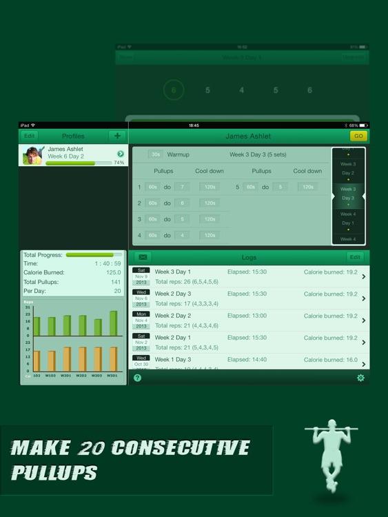 Pullups Coach for iPad - Do Twenty Pull Ups
