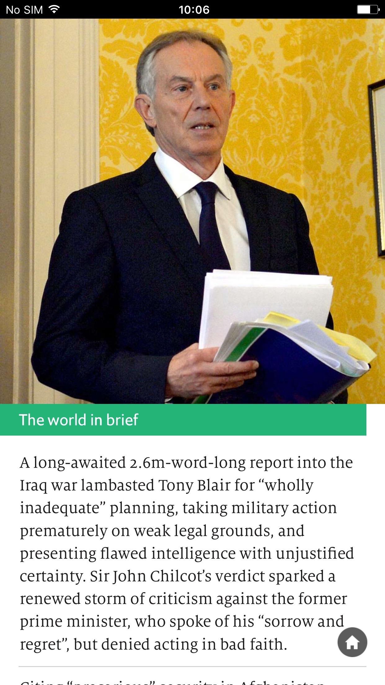 The Economist Espresso Screenshot