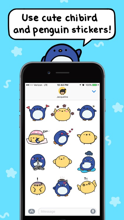 Chibird & Penguin Stickers