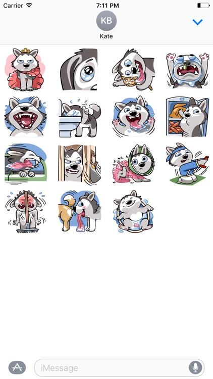 Bad Husky iMessage stickers