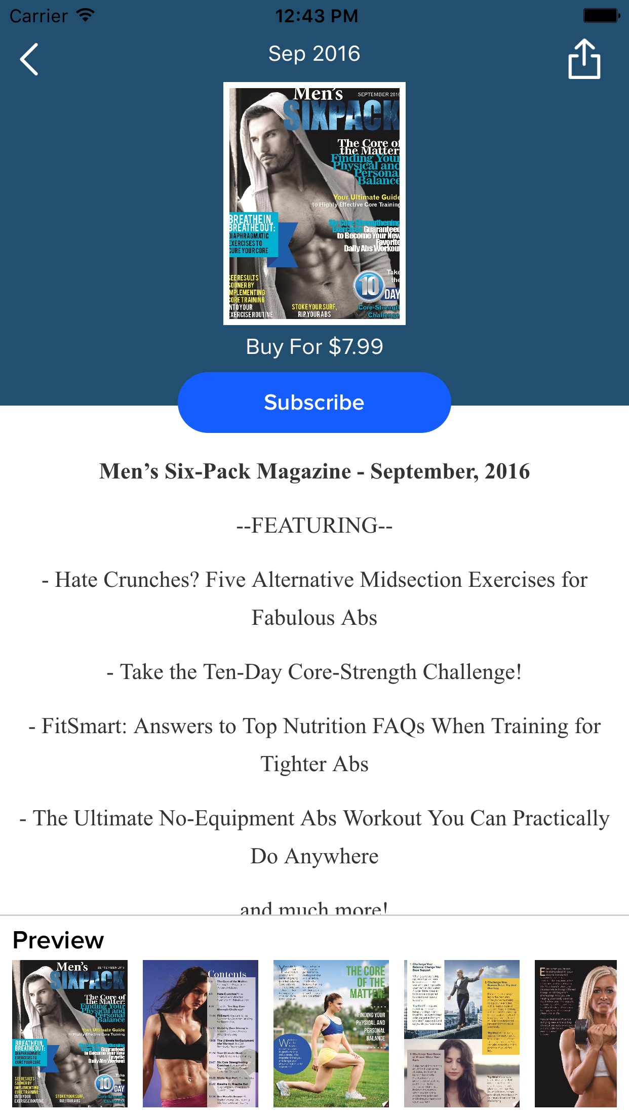 Men's Six Pack Magazine Screenshot
